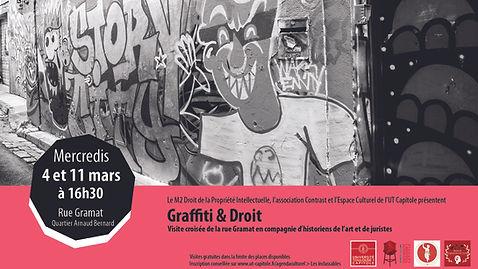 Affiche visite Graffiti et Droit mars
