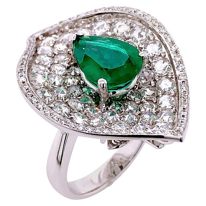 2.55ct GRS Certified Emerald Diamond Cocktail Ring/Pendant