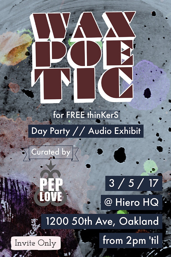 Wax Poetic for FREE thinKerS March 2017 Flier