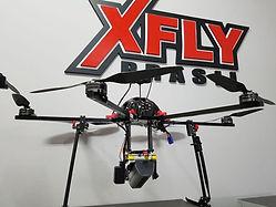 Drone com gimbal para Slant Range