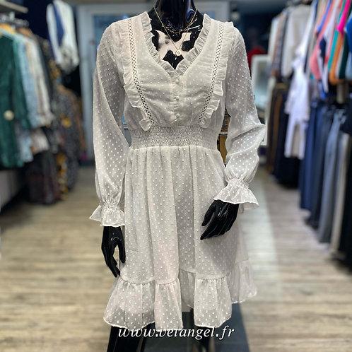 Robe courte Eve blanc