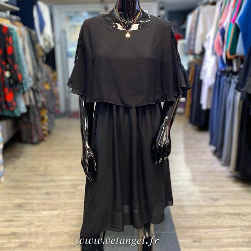 Robe cape Sabine noire
