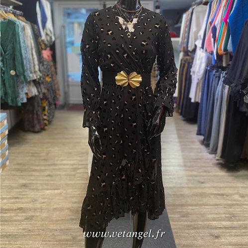 Robe mi-longue Aya noire
