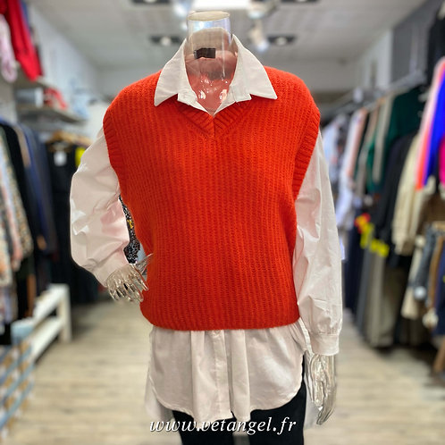 Pull sans manches James orange