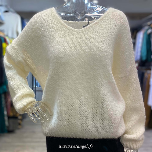 Pull Willy en maille blanc