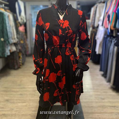 Robe courte Leïla rouge