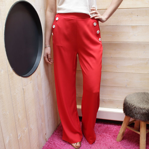 Pantalon fluide Molly Bracken P1076BP21 rouge
