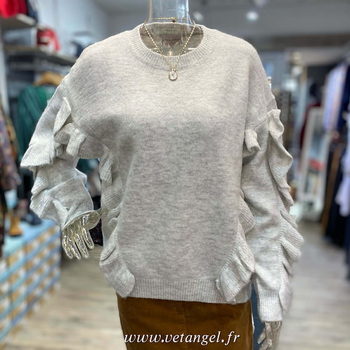 Pull Gladys gris clair