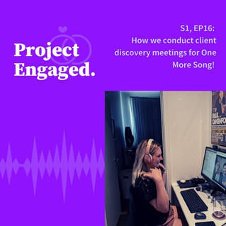 How we conduct client discovery meetings for One More Song!
