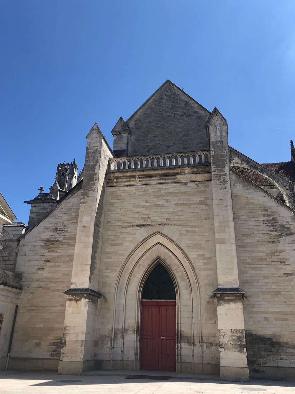 Saint-Germain abbey facade in Auxerre Chablis wine region Burgundy France