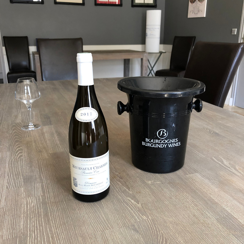 Tasting Meursault wines in Burgundy and visiting Domaine Jean Marie Bouzereau during my Burgundy wine study trip