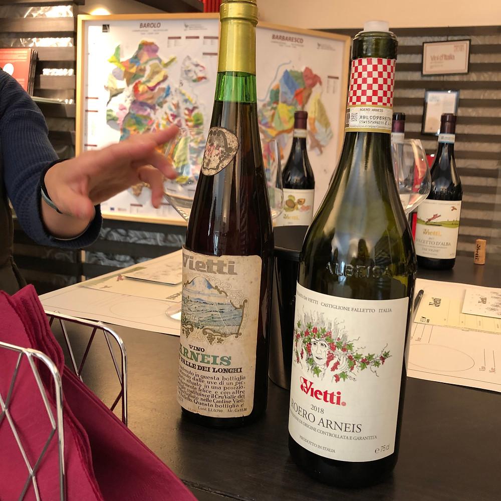 Roero Arneis wine tasting at Vietti winery in Castiglione Falleto