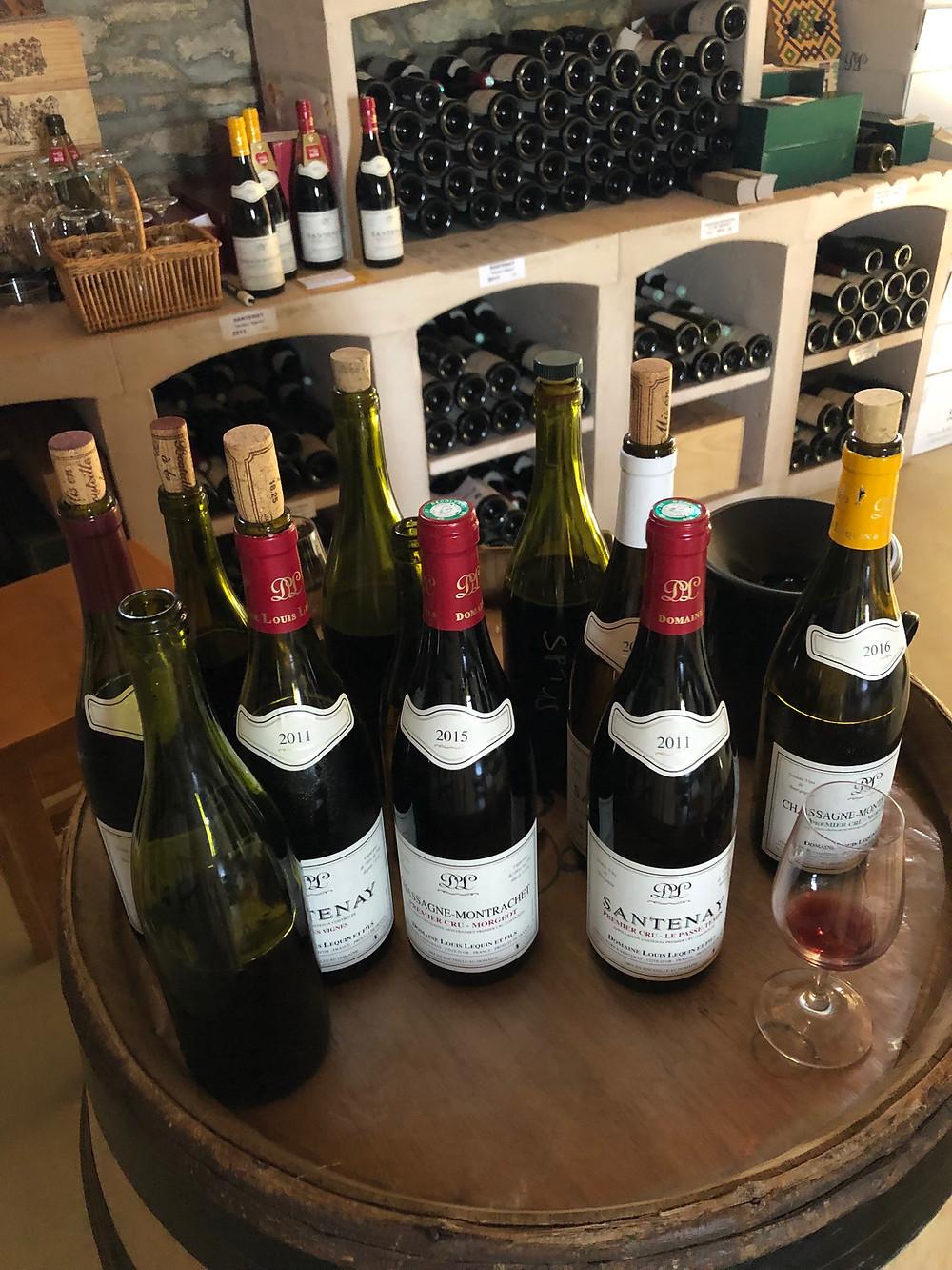 wine tasting in Santenay in Burgundy at Domaine Louis Lequin