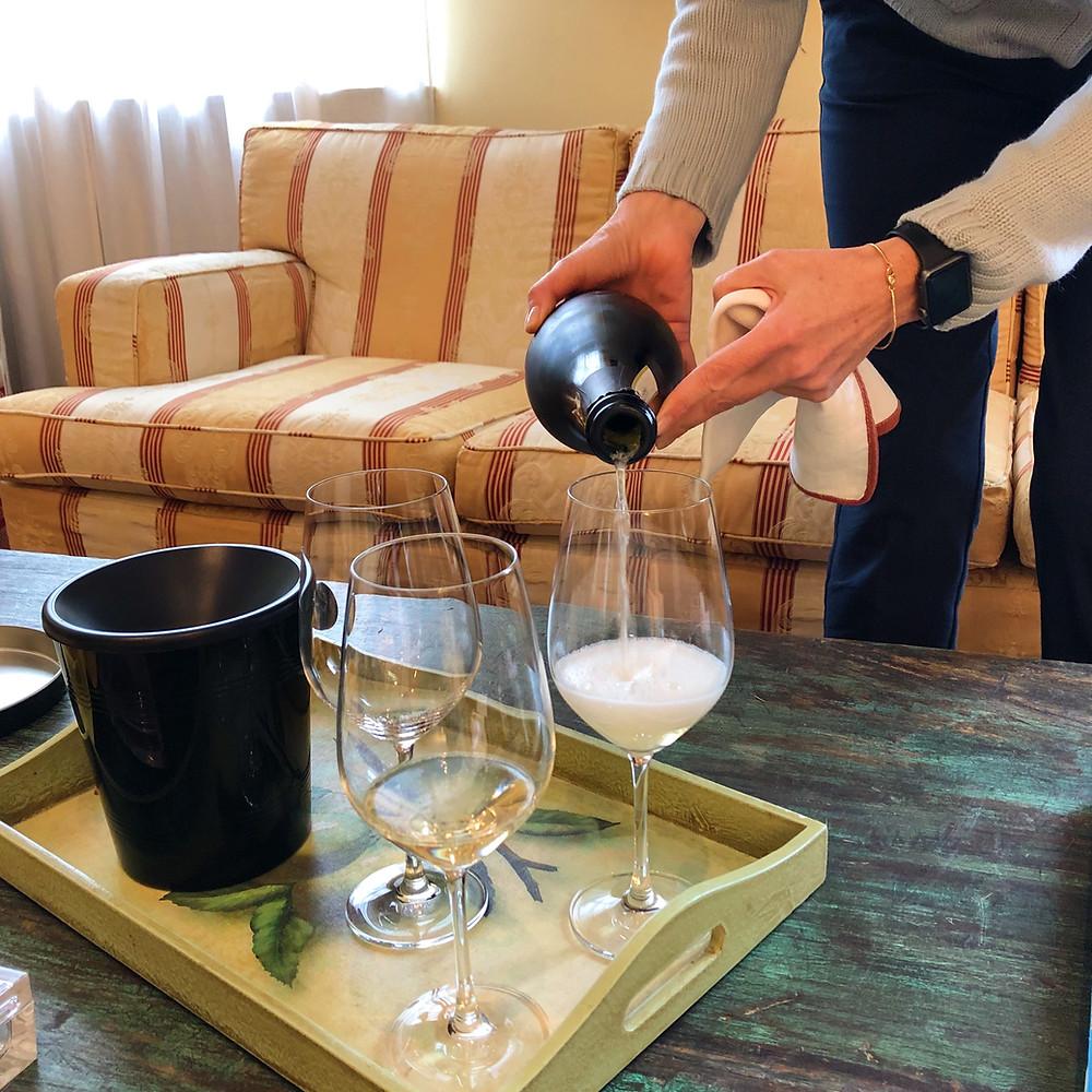 Gavi DOCG wine tasting in La Mesma winery Novi Ligure