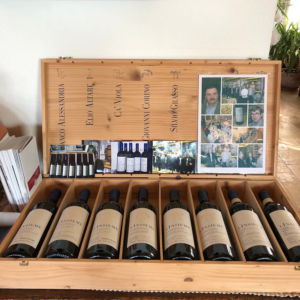 L'Insieme wine collection by Elio Altare created as a charity foundation to support local and international causes