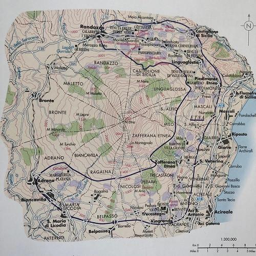 Etna DOC wine region map