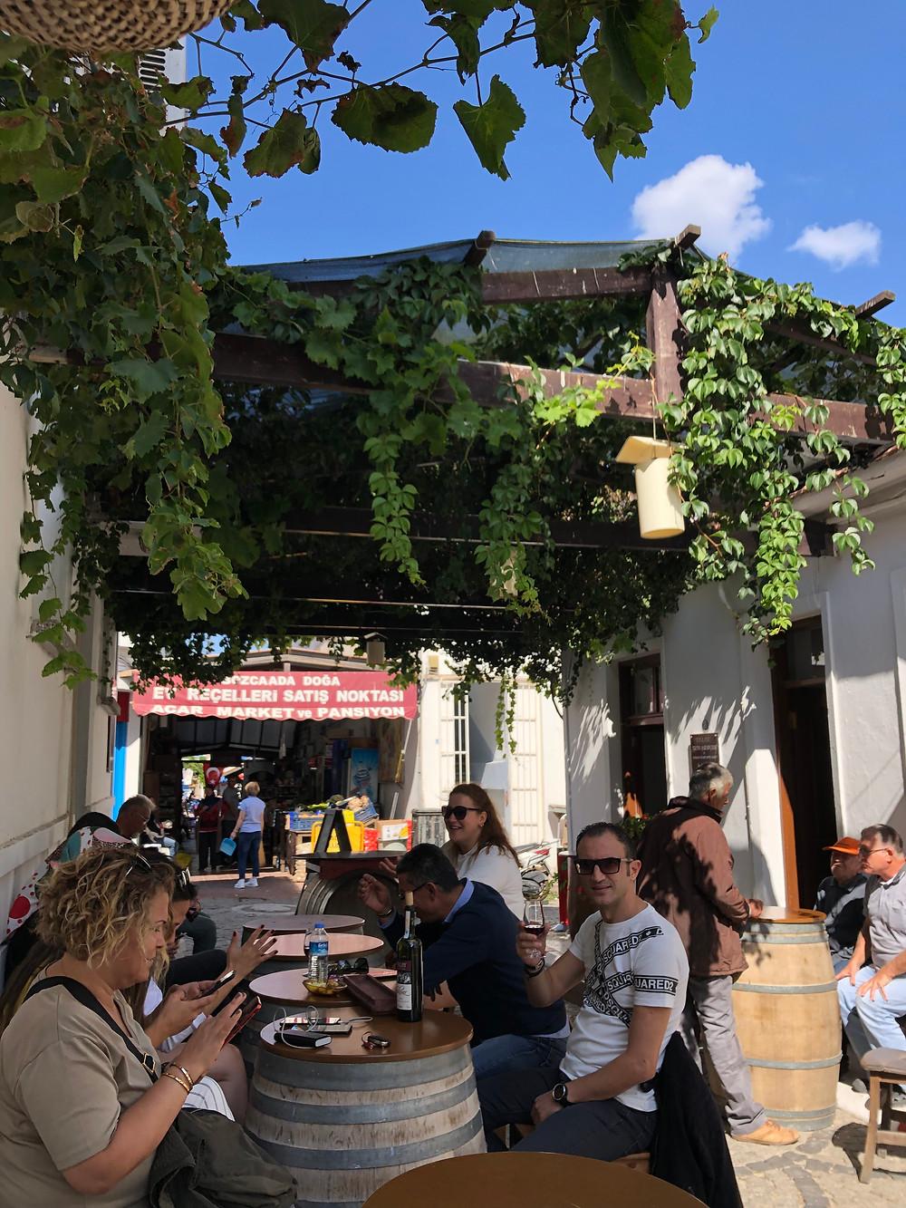 Wine tasting at Talay wine bar on Bozcaada island