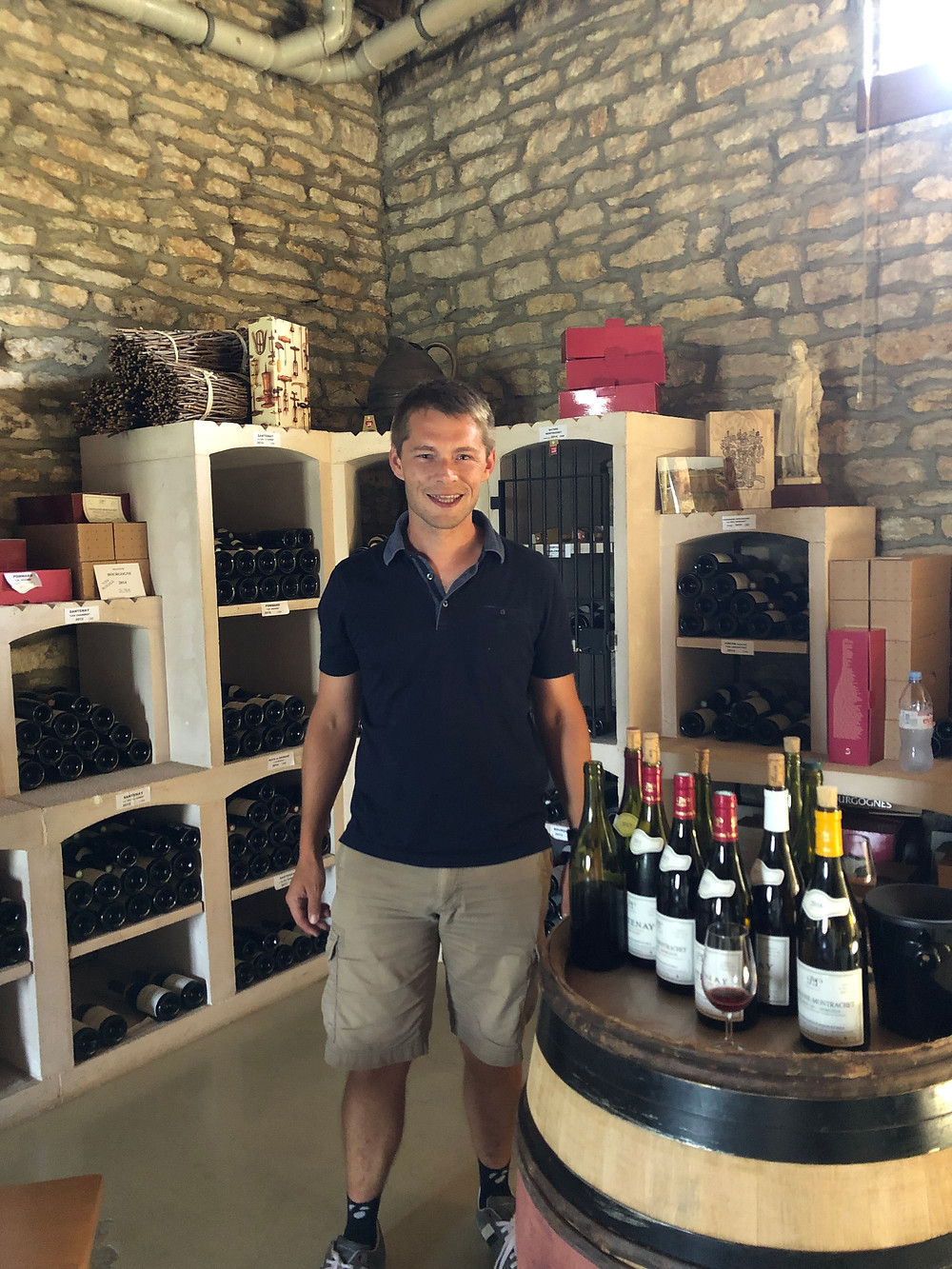 Wine tasting tour in Burgundy, in Cote de Beaune Santenay village with Anotine Lequin in Louis Lequin winery