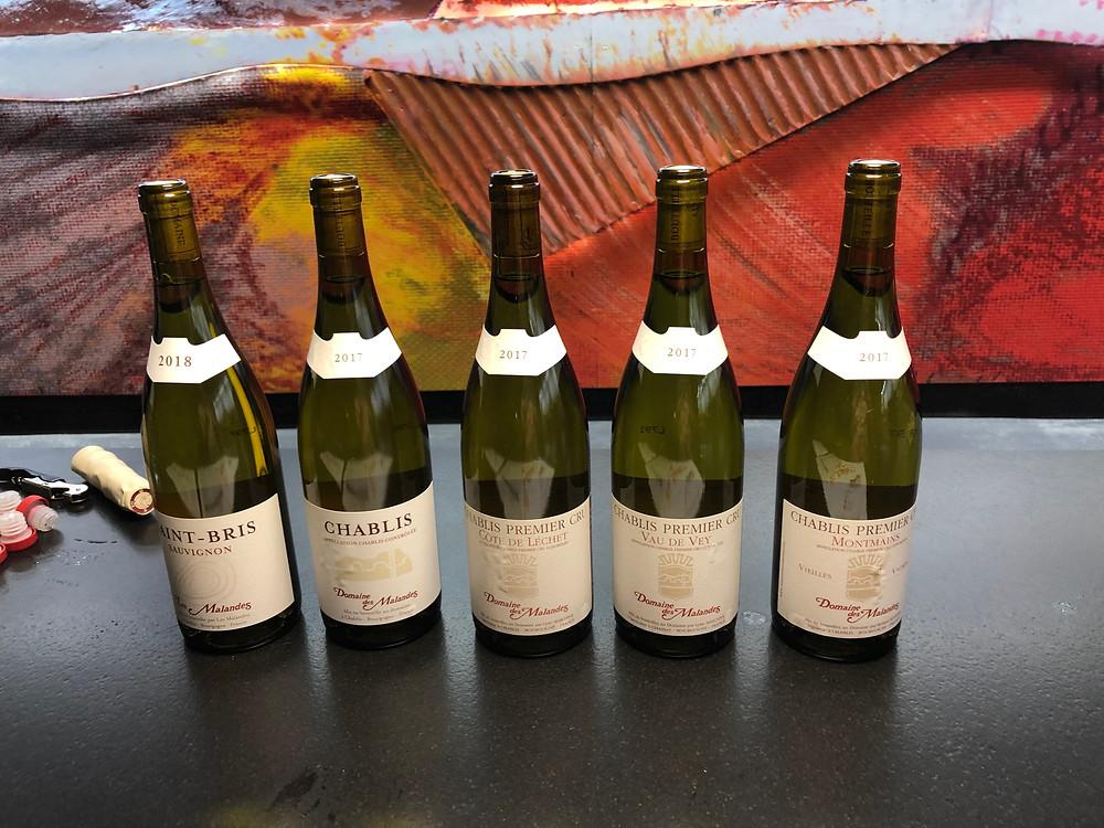 Chablis wine tasting at Domaine des Malandes in Chablis village in Burgundy France
