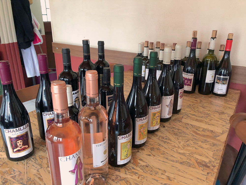 Chamlija wine tasting and winery visit in Kirklareli on the Trakya wine route in Turkey.