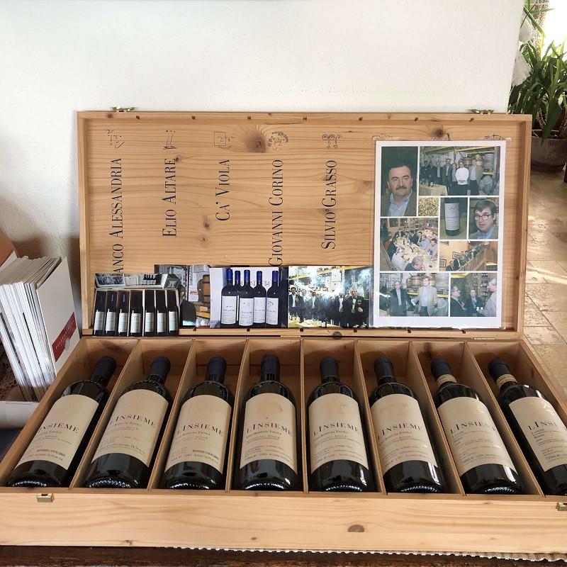 l'Insieme wine case at Elio Altare winery in La Morra, Barolo DOCG