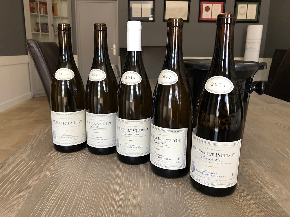 Meursault wine tasting in Burgundy at Domaine Jean Marie Bouzereau during a wine study trip to Burgundy