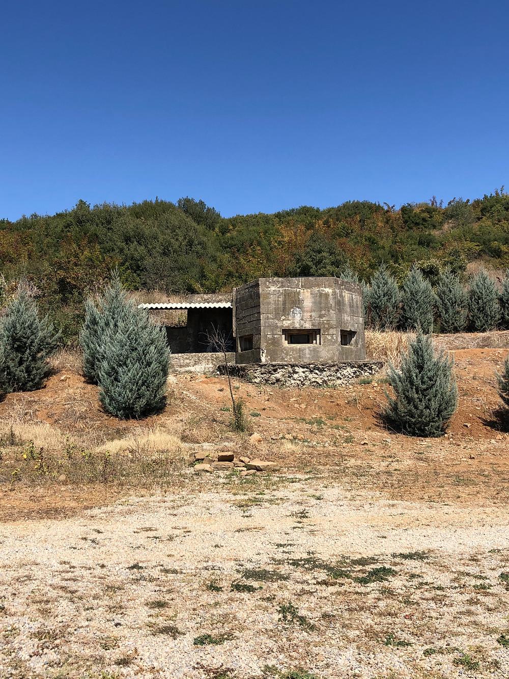 World War II military bunkers at Gali Vineyards in Trakya Thrace Wine Route