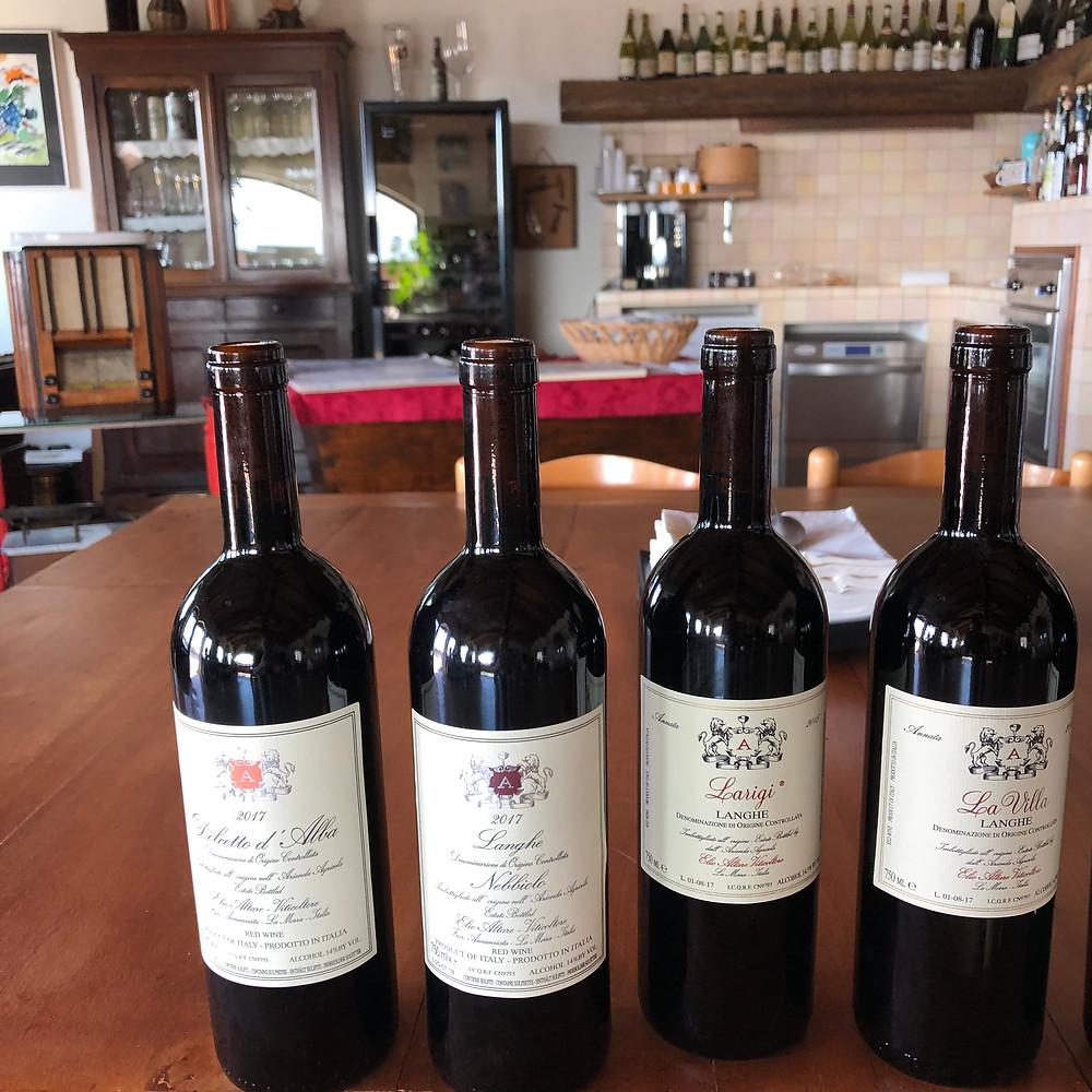 Barolo, Dolcetto, Langhe Nebbiolo wine tasting at Elio Altare at the winery in La Morra