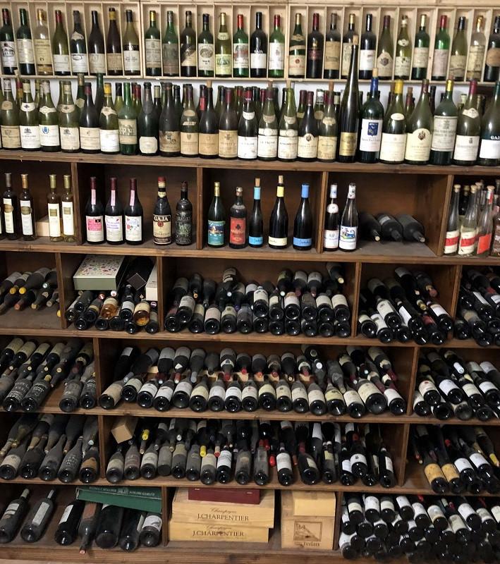 private wine collection of Elio Altare at their cellar in La Morra, Barolo DOCG