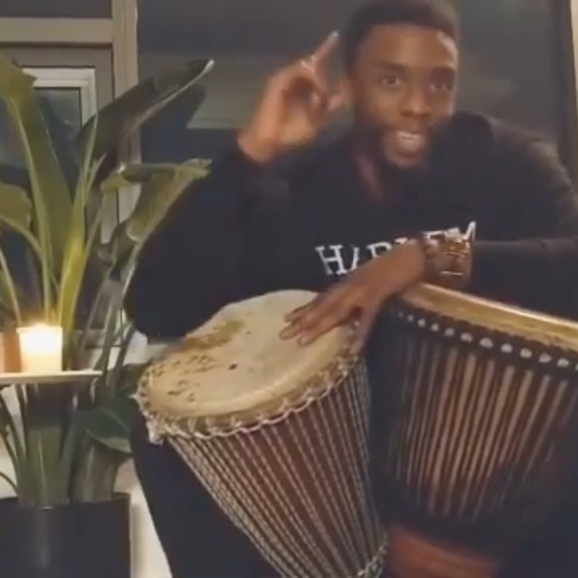 Sunday African Drum Circle / Honoring Ancestor Chadwick Boseman