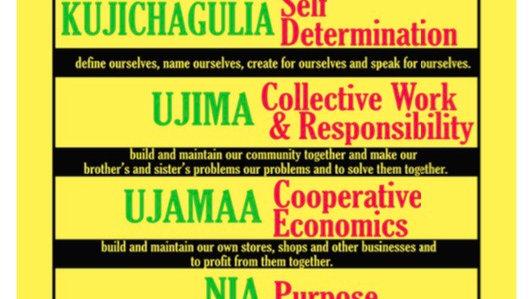 Kwanzaa nguza saba poster