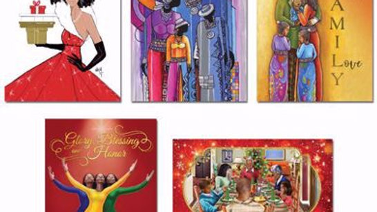 African American Christmas cards Assorted