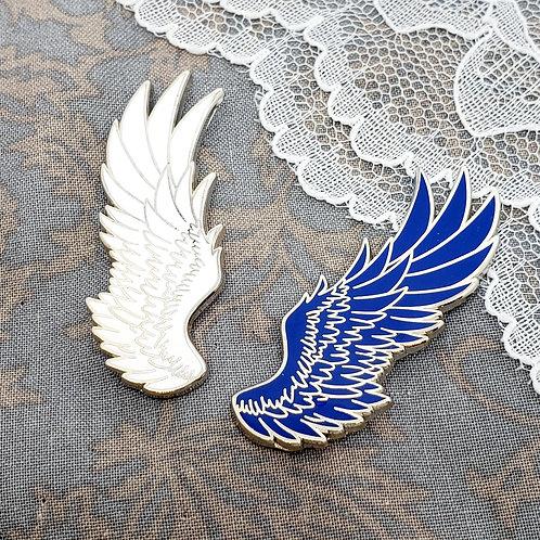 Titan Angel Wing Enamel Pin Set