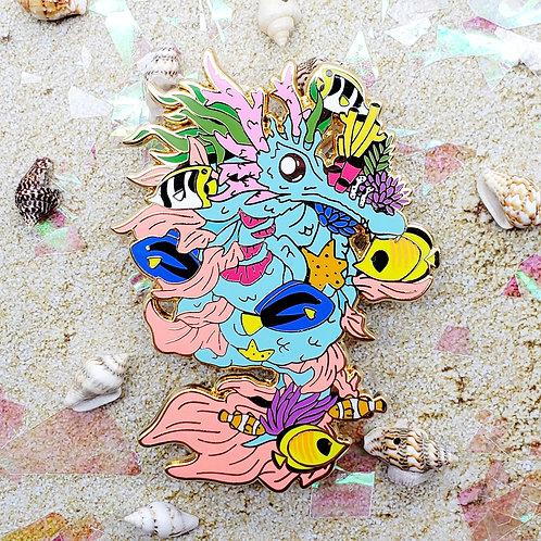 Great Barrier Reef Dragon Enamel Pin