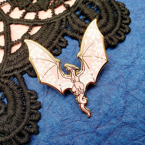 Kawaii Porcelain Dragon Enamel Pin
