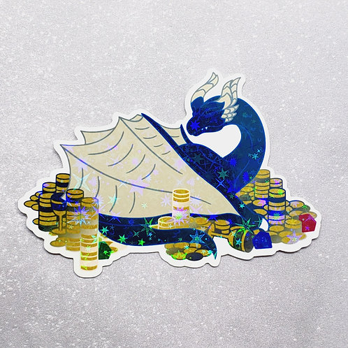 Blue Hoarder Holographic Sticker