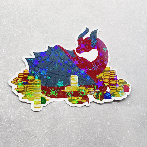 Red Hoarder Holographic Sticker