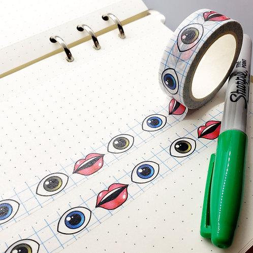Hello Clarice Emoji Washi Tape