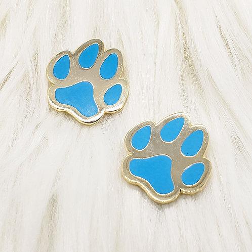 Blue Dog Pawprints Enamel Pin Set