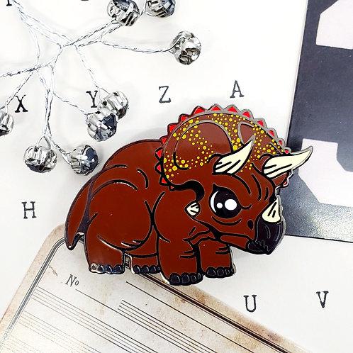 Triceratops Enamel Pin