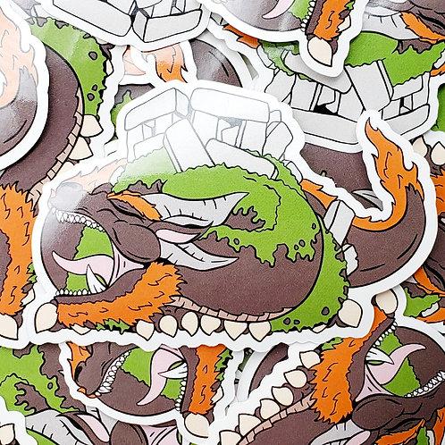 Stonehenge Dragon Sticker