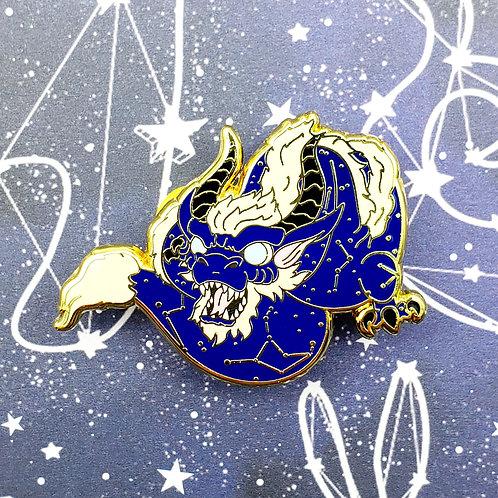 Blue Celestial Dragon Enamel Pin