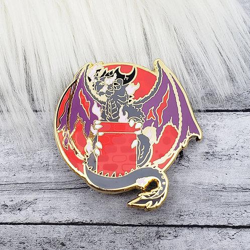 Blood Moon Dragon Enamel Pin