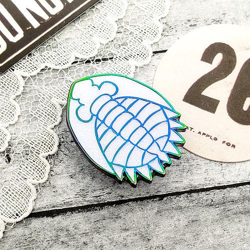Rainbow Trilobite Enamel Pin