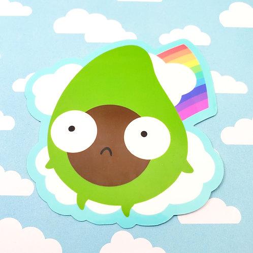 Rainbow Arlen Avocado Sticker