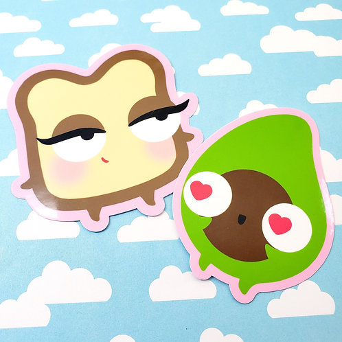 Arlen and Miss Toast Stickers