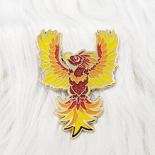 Glitter Bomb Phoenix Enamel Pin