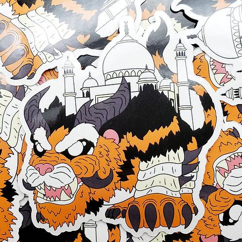 Taj Mahal Dragon Sticker