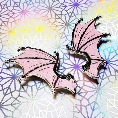 Bad Bitch Dragon Wing Enamel Pin Set