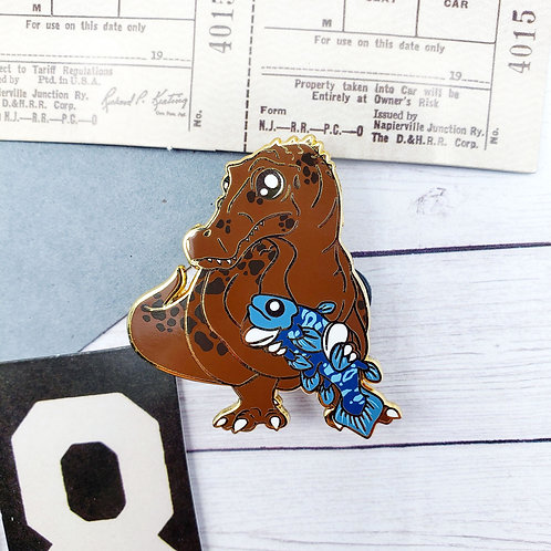 Brown Baryonyx Enamel Pin